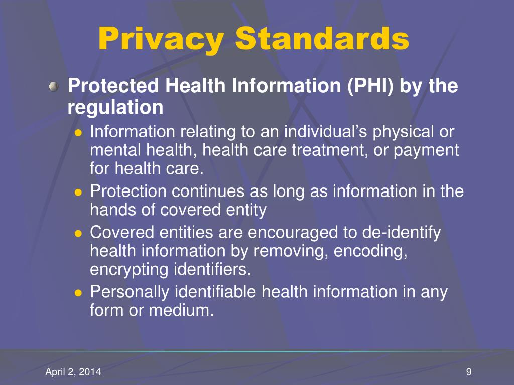 Privacy Standards
