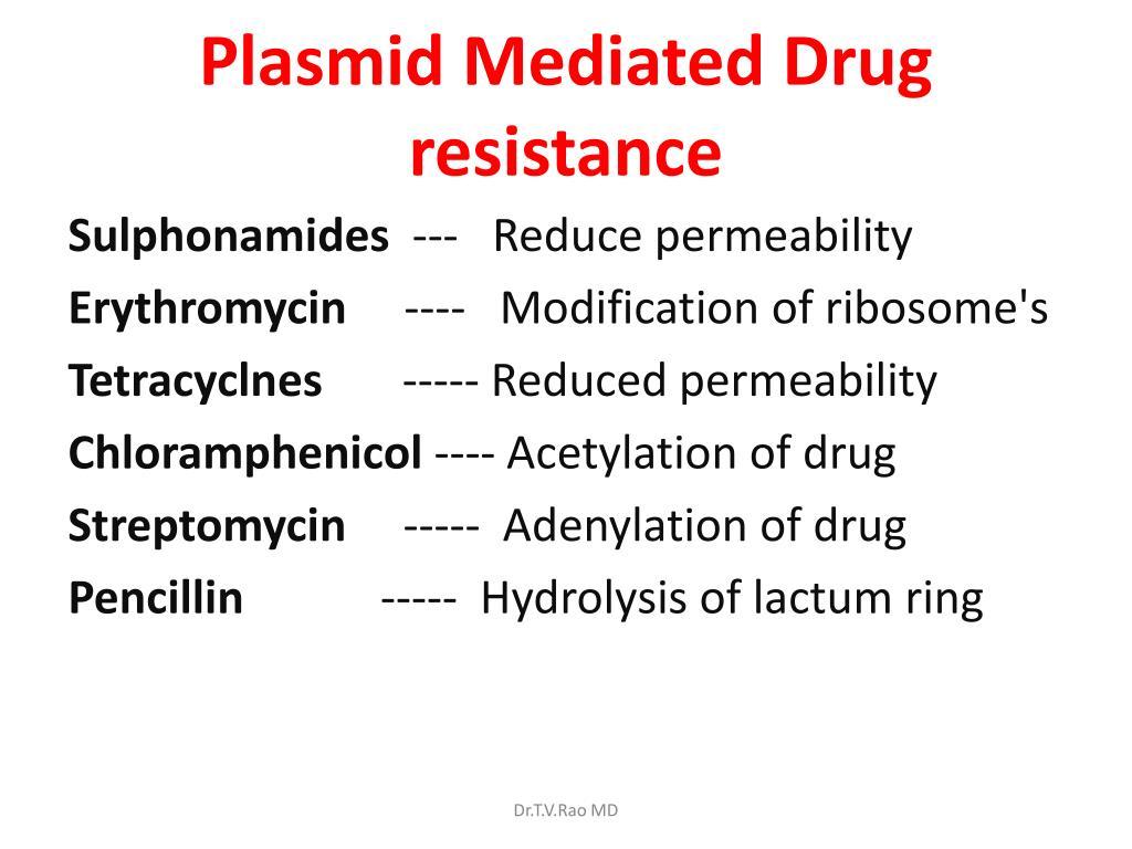 Plasmid Mediated Drug resistance