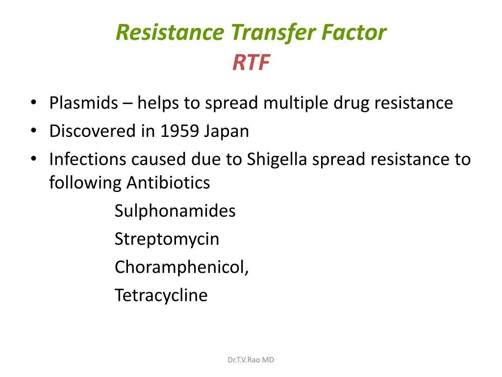 Resistance Transfer Factor