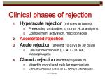 clinical phases of rejection