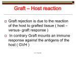 graft host reaction