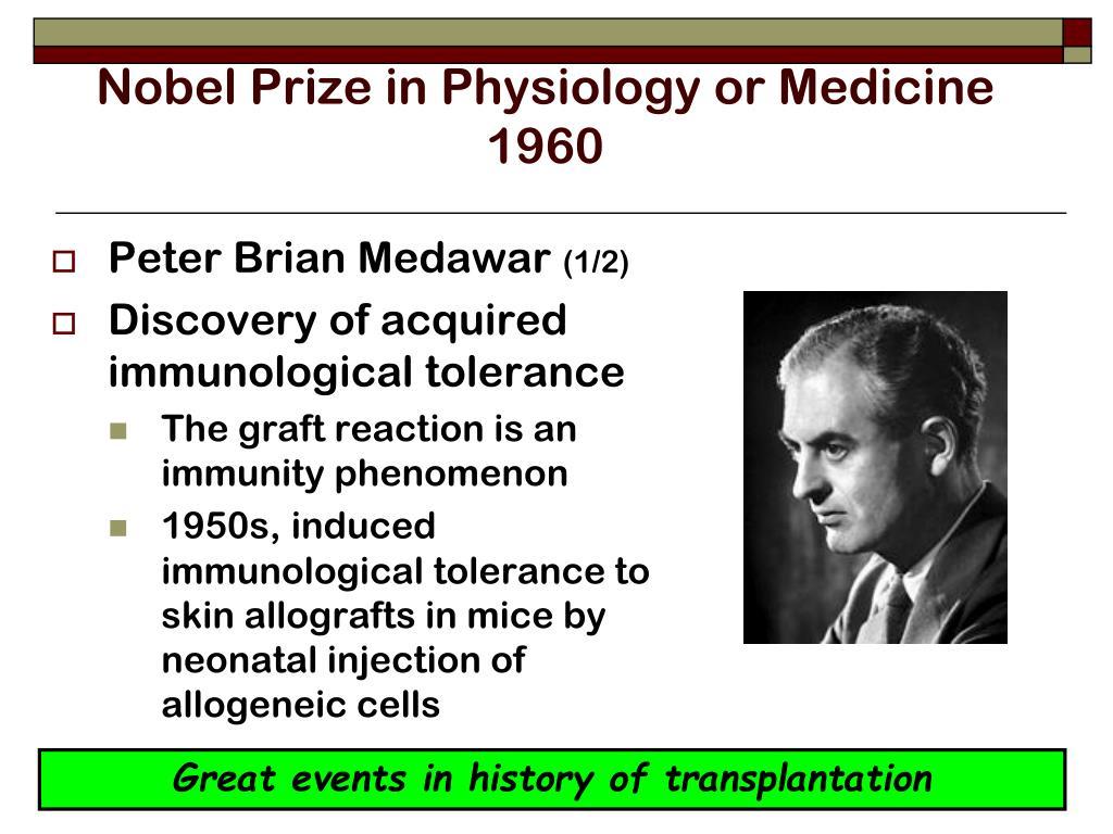 Nobel Prize in Physiology or Medicine 1960
