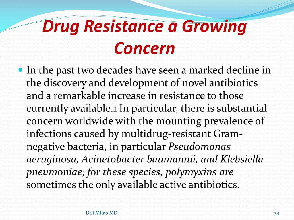 Drug Resistance a Growing Concern