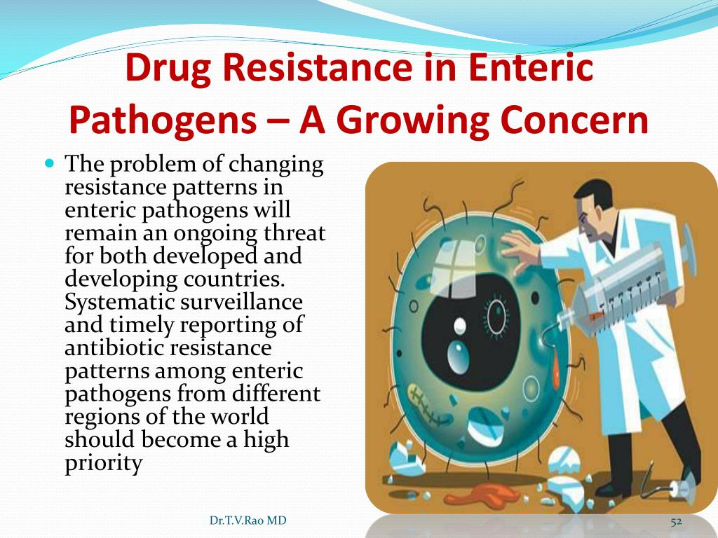 Drug Resistance in Enteric Pathogens – A Growing Concern