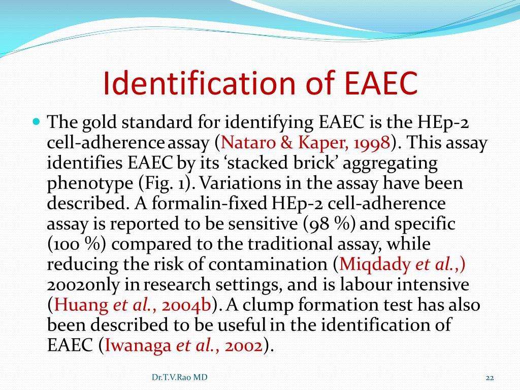 Identification of EAEC