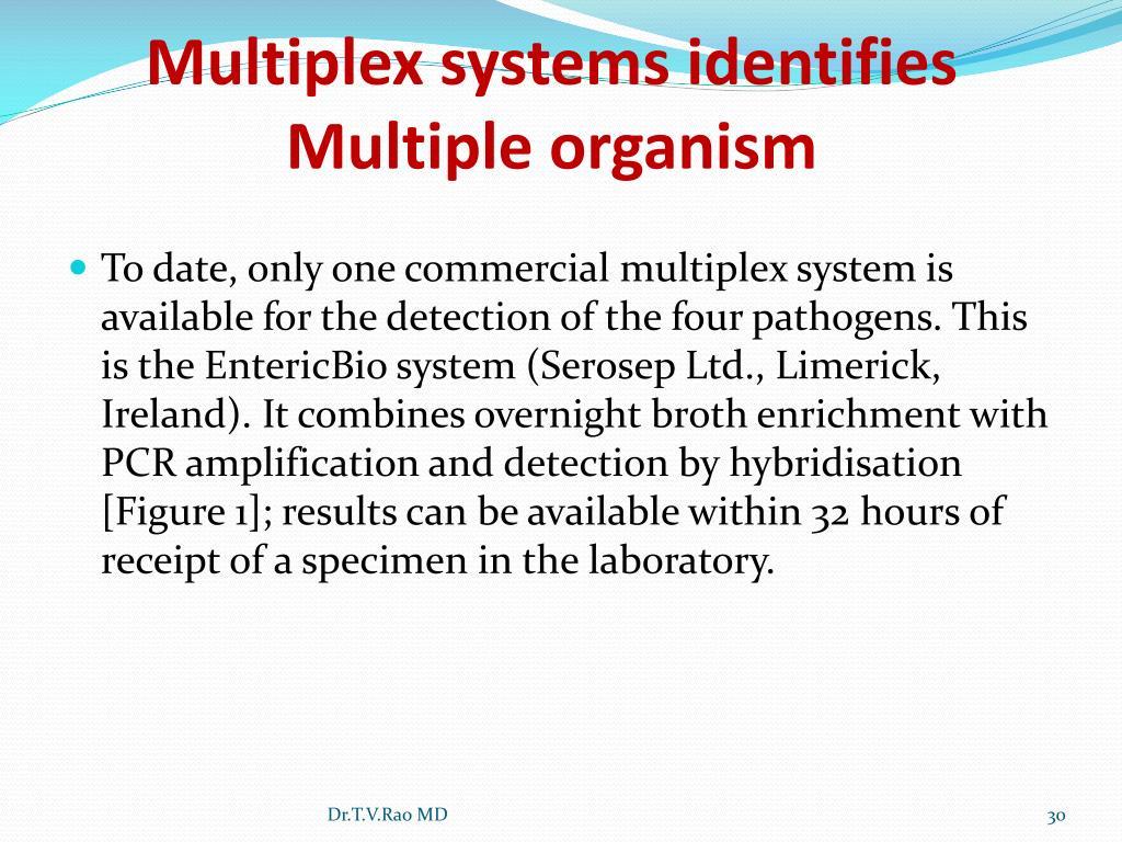 Multiplex systems identifies Multiple organism