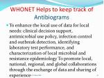 whonet helps to keep track of antibiograms