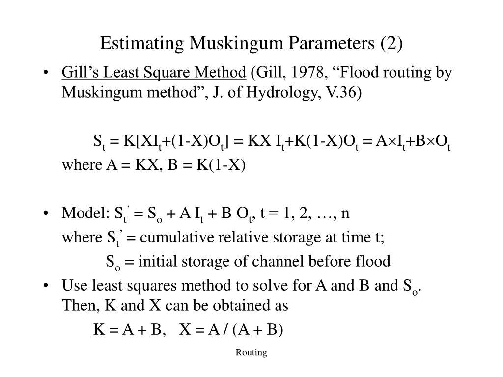 Estimating Muskingum Parameters (2