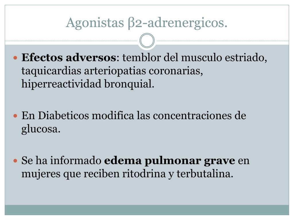 Agonistas β2-adrenergicos.