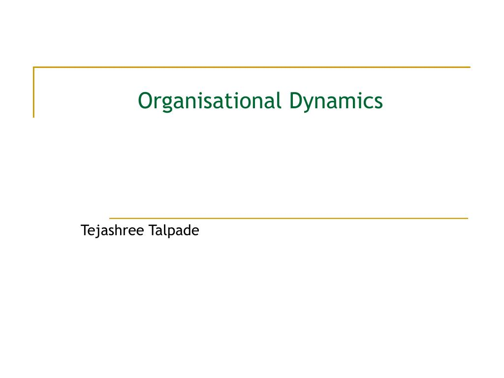 Organizational information theory