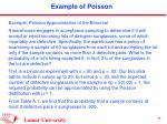 example of poisson