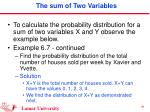 the sum of two variables