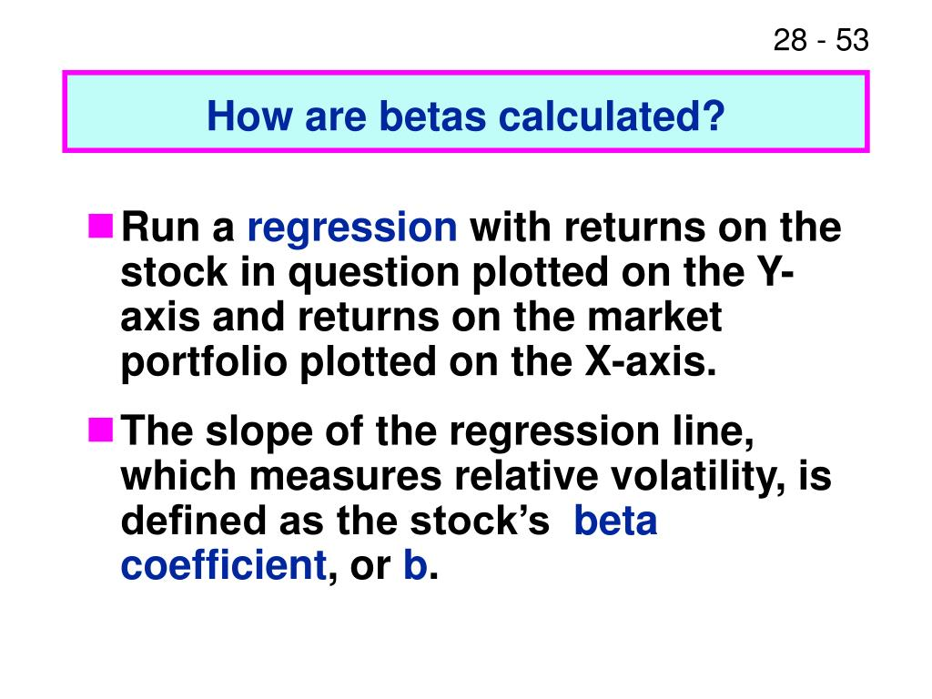 How are betas calculated?