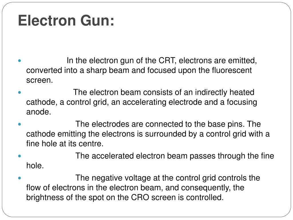 Electron Gun: