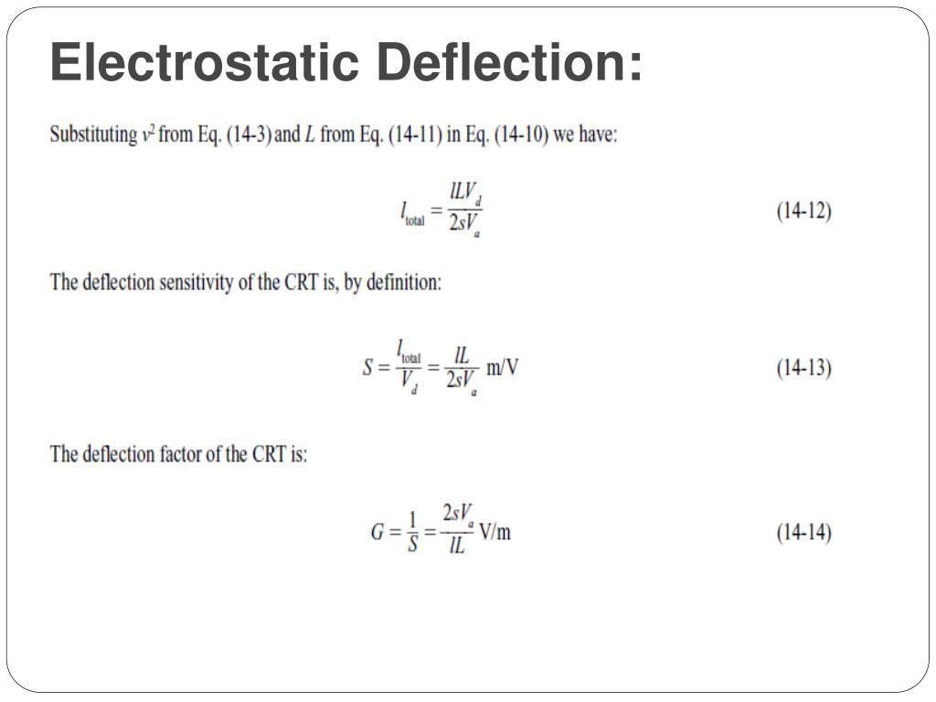 Electrostatic Deflection: