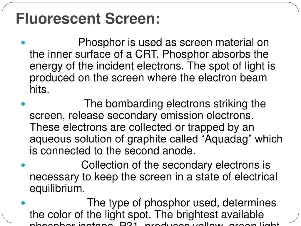 Fluorescent Screen: