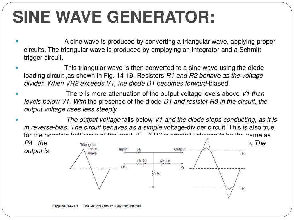 SINE WAVE GENERATOR: