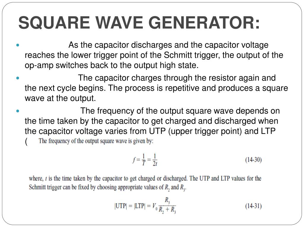SQUARE WAVE GENERATOR: