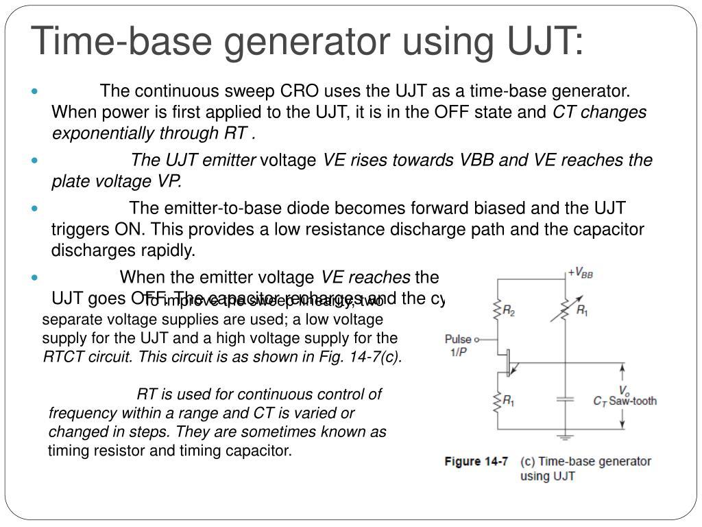 Time-base generator using UJT: