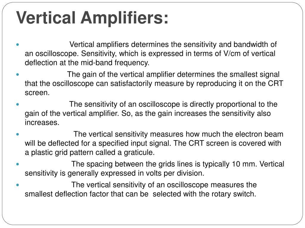 Vertical Amplifiers: