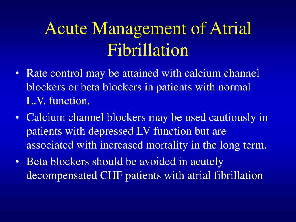 Acute Management of Atrial Fibrillation