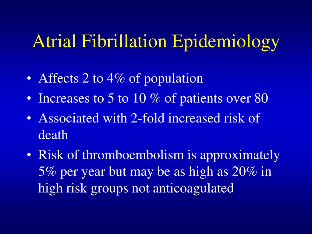 Atrial Fibrillation Epidemiology