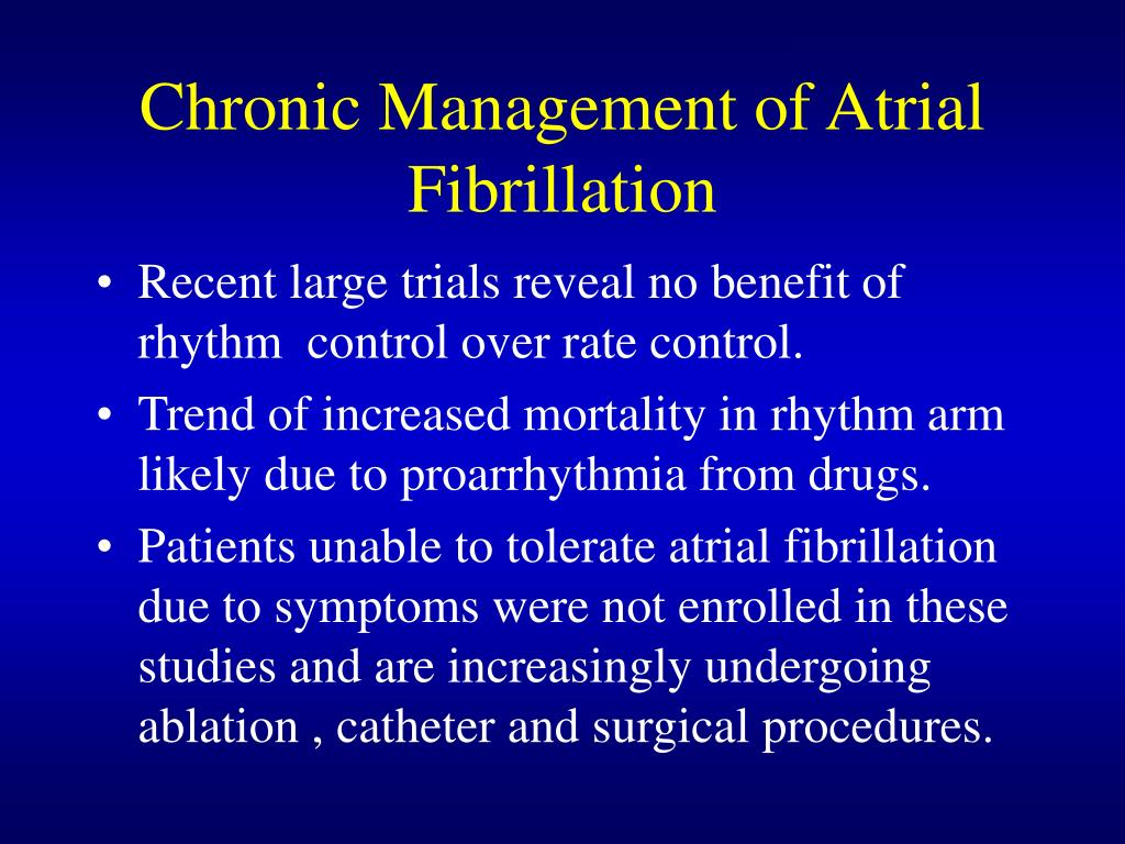Chronic Management of Atrial Fibrillation