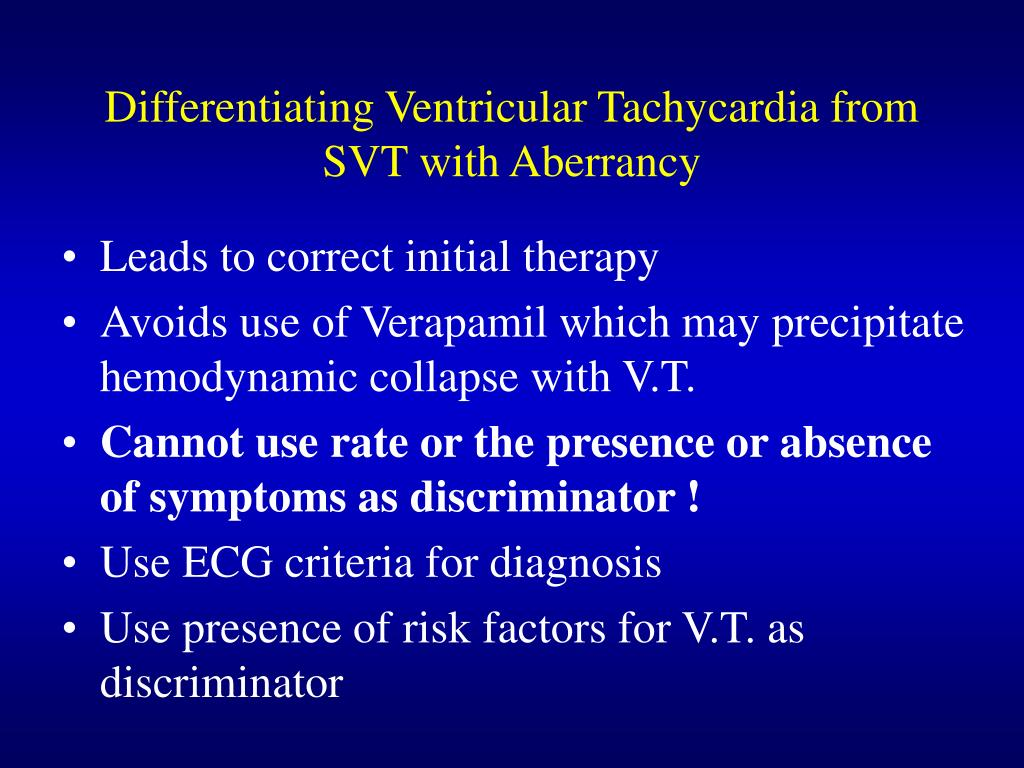 Differentiating Ventricular Tachycardia from SVT with Aberrancy