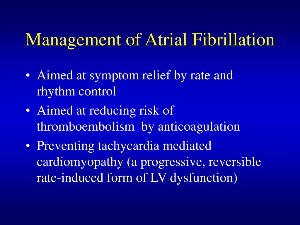 Management of Atrial Fibrillation