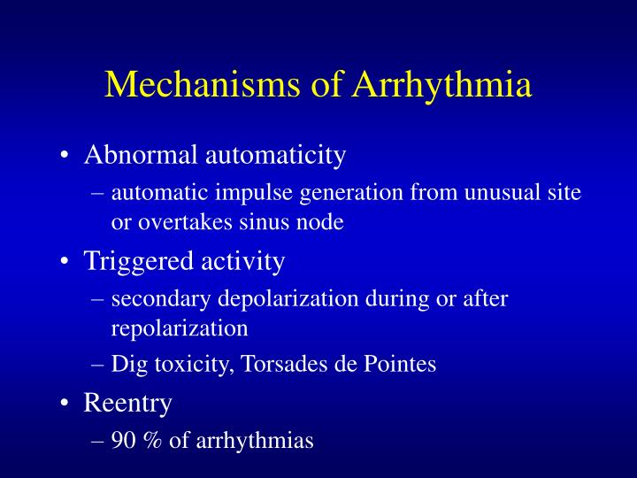 Mechanisms of arrhythmia