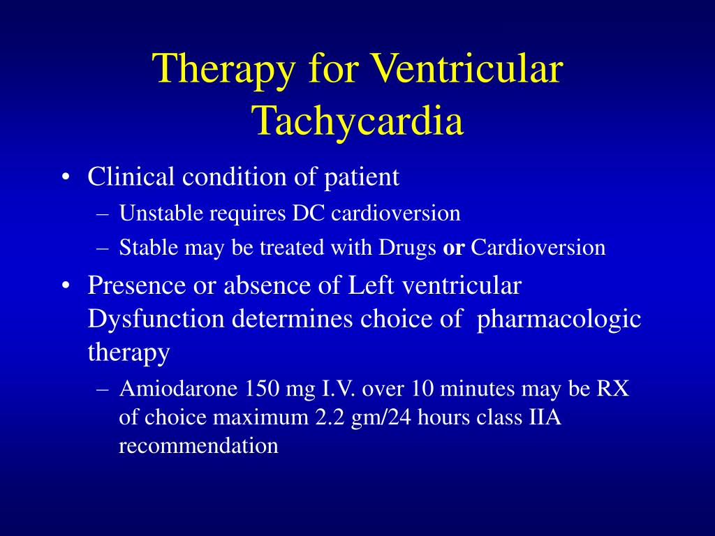 Therapy for Ventricular Tachycardia