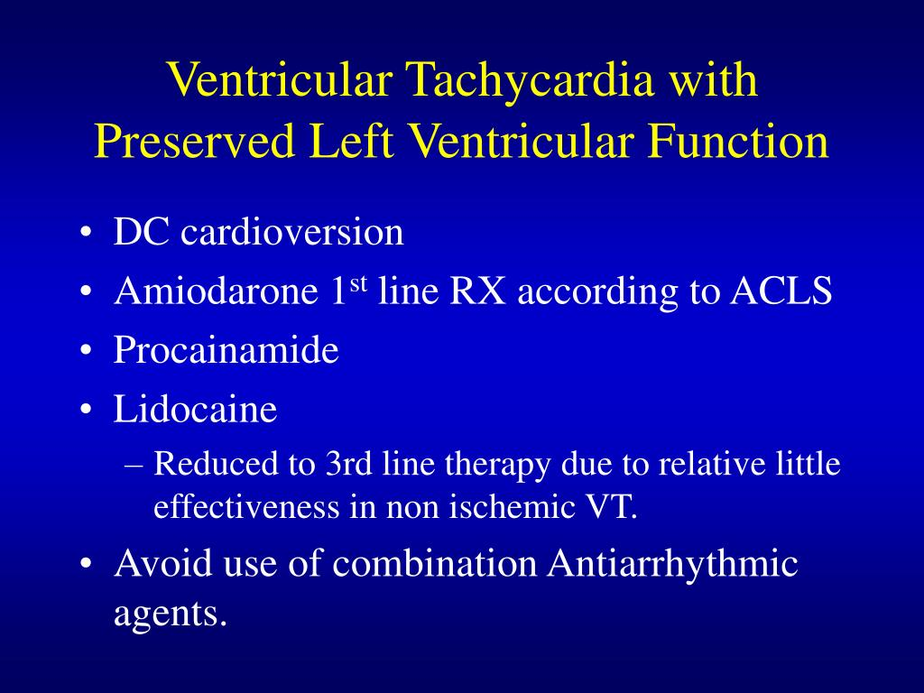 Ventricular Tachycardia with Preserved Left Ventricular Function