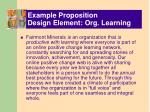 example proposition design element org learning