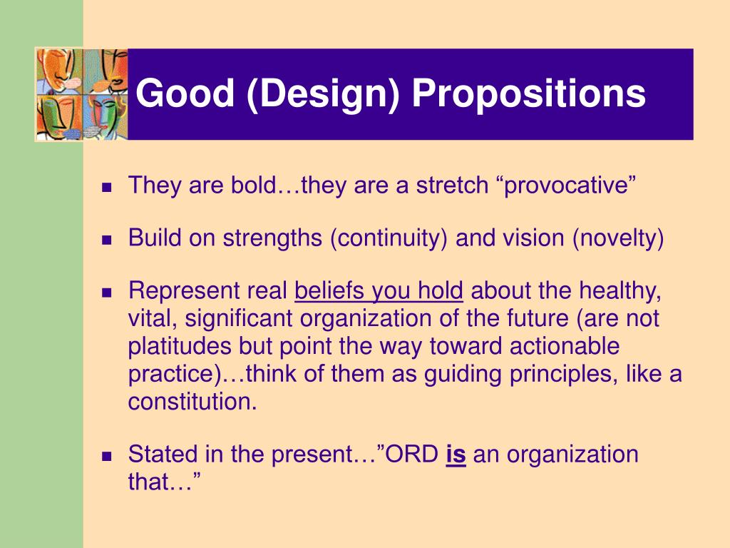 Good (Design) Propositions