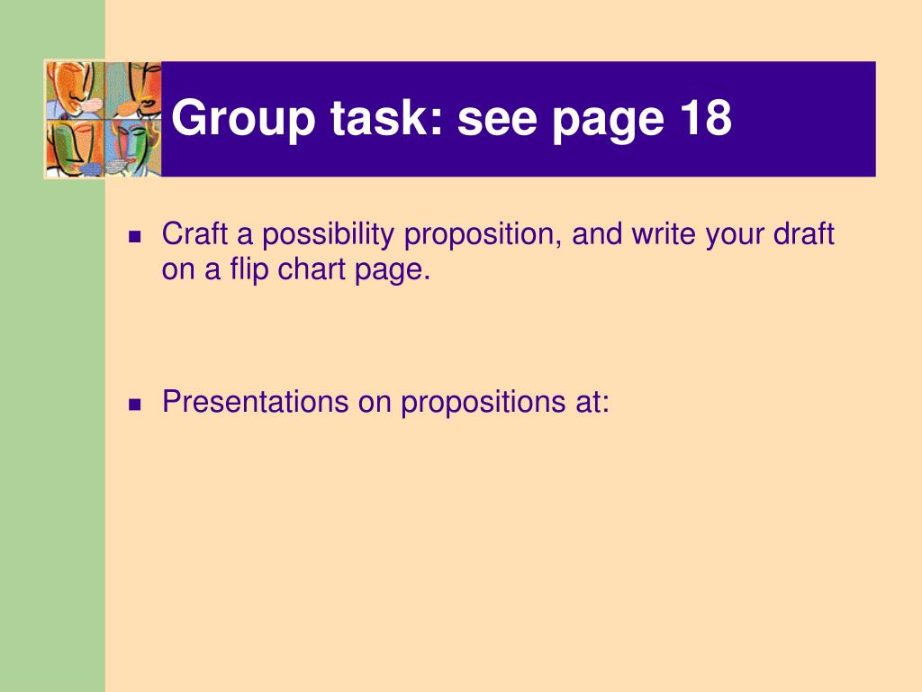 Group task: see page 18