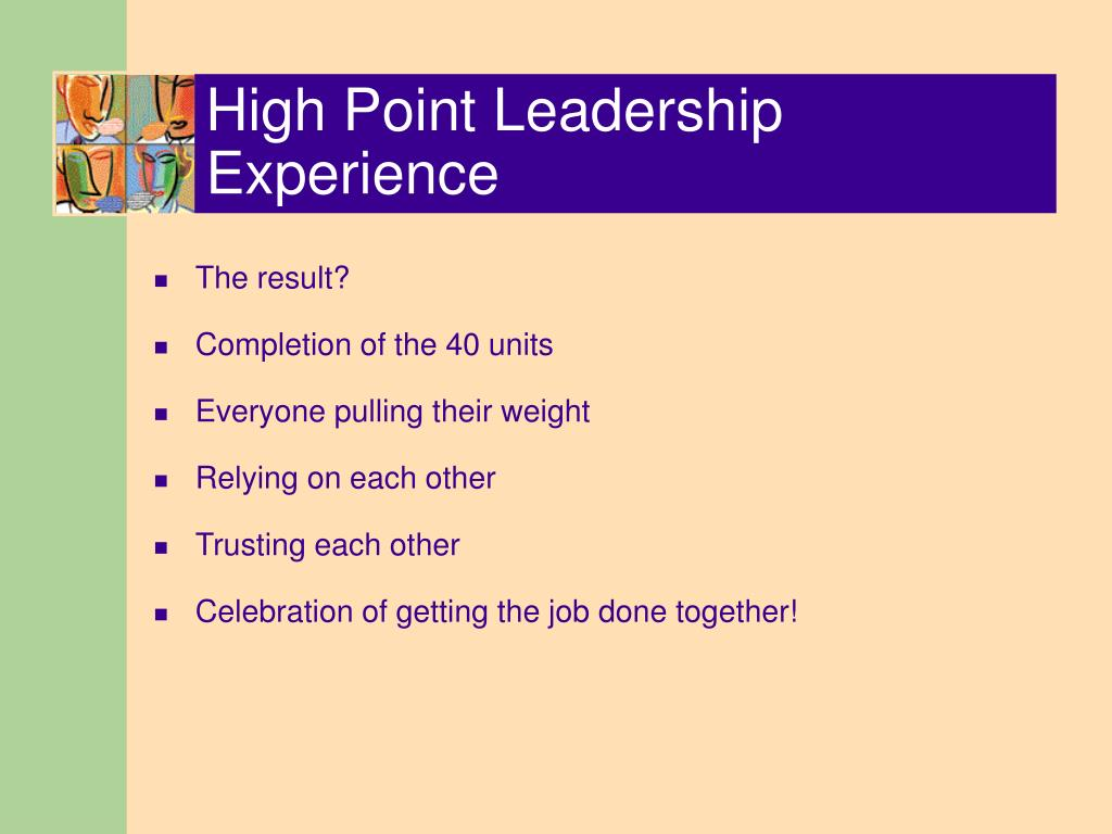 High Point Leadership Experience