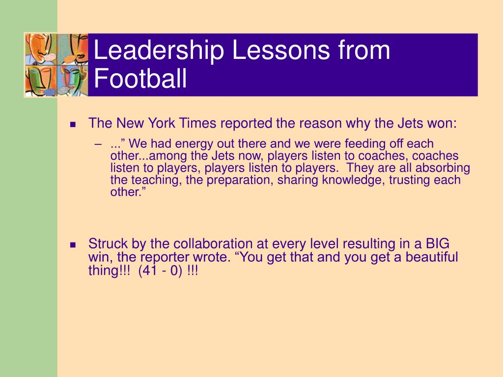 Leadership Lessons from Football
