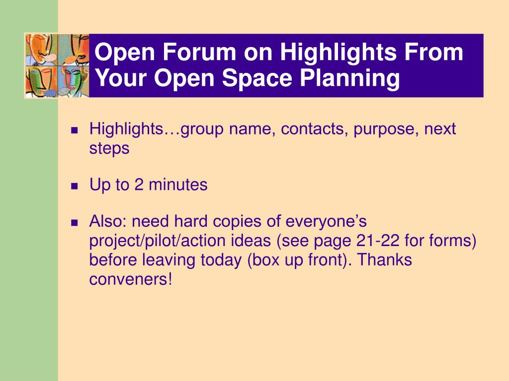 Open Forum on Highlights From Your Open Space Planning