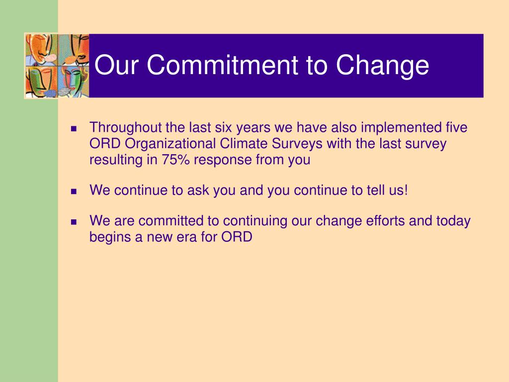 Our Commitment to Change
