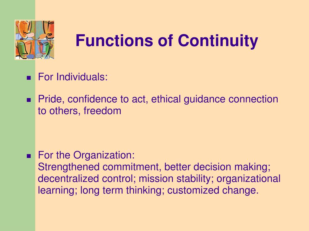 Functions of Continuity