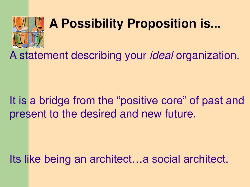 A Possibility Proposition is...
