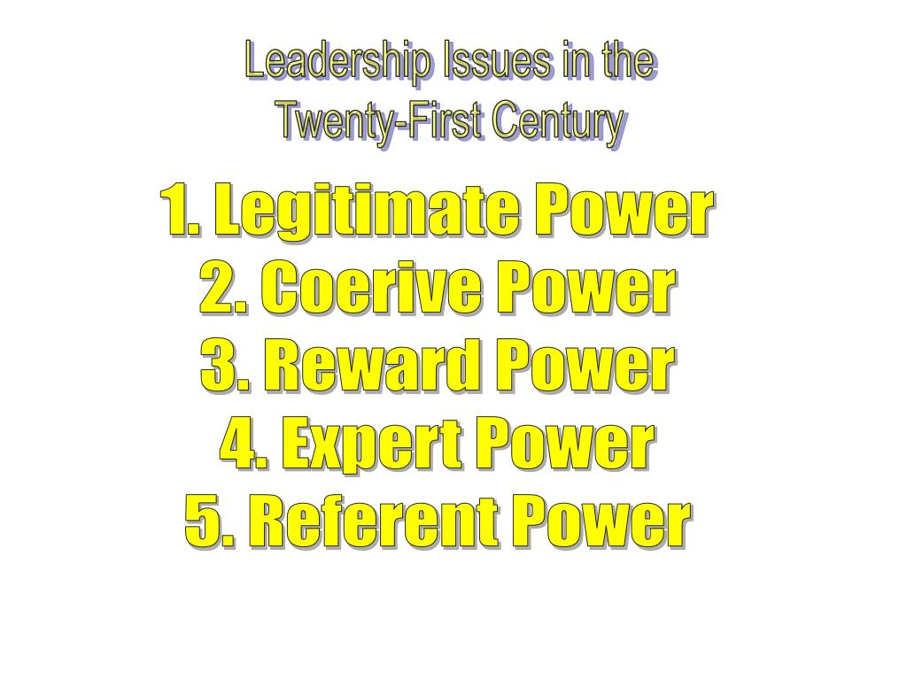 Leadership Issues in the