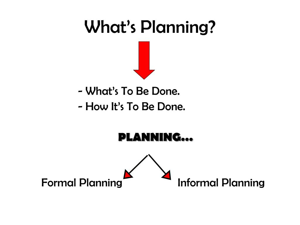 What's Planning?