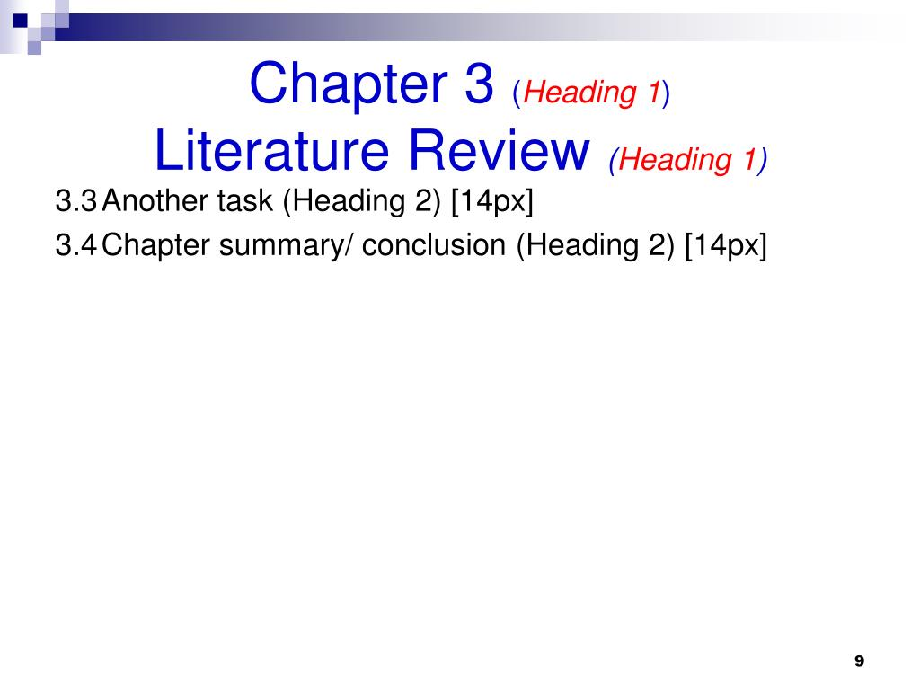 apa chapter headings thesis 5 part ii: formatting titles and captions headings it is important to format all the important titles and subtitles (the ones that will feature in the table.