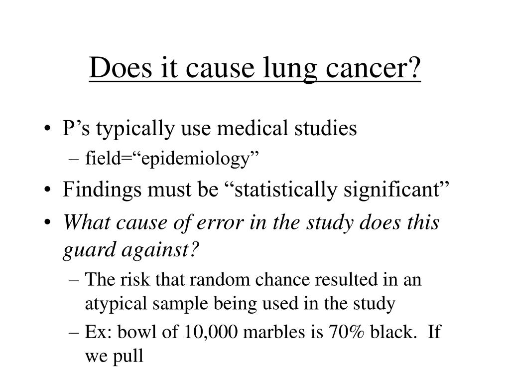 Does it cause lung cancer?