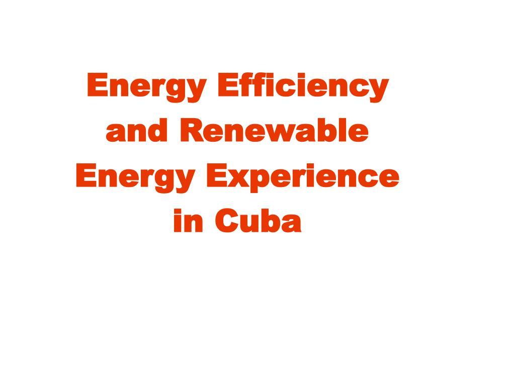 Energy Efficiency and Renewable