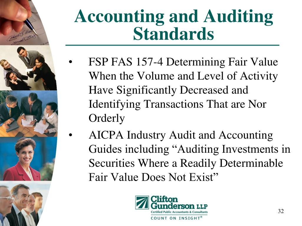 Accounting and Auditing Standards