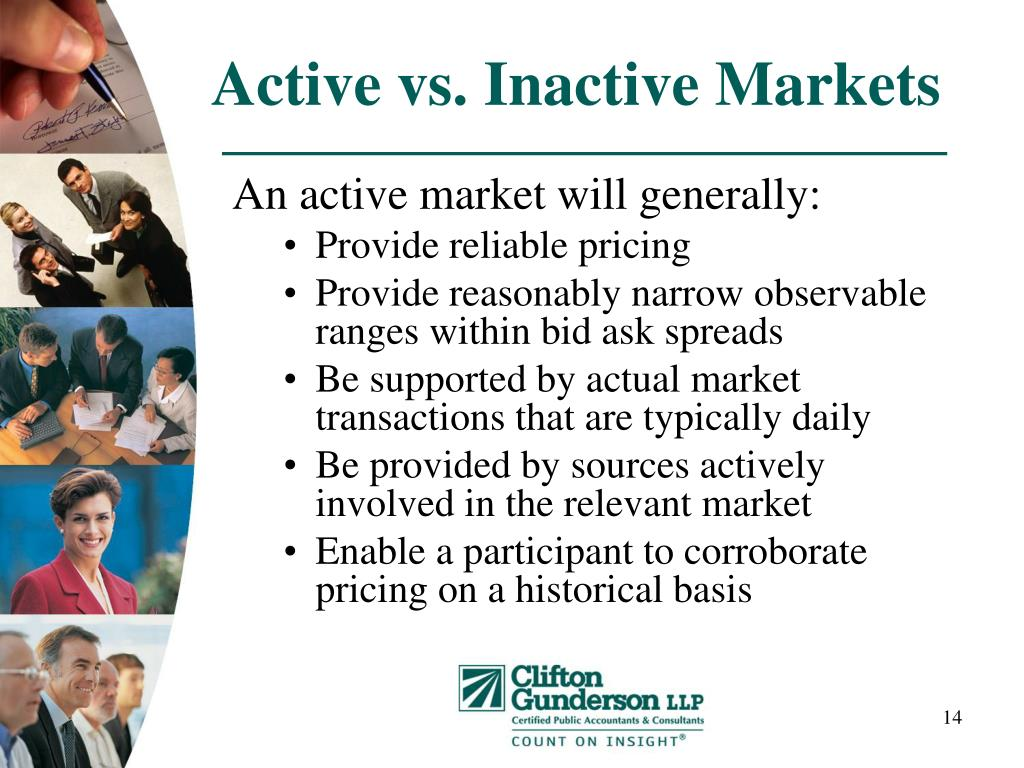Active vs. Inactive Markets