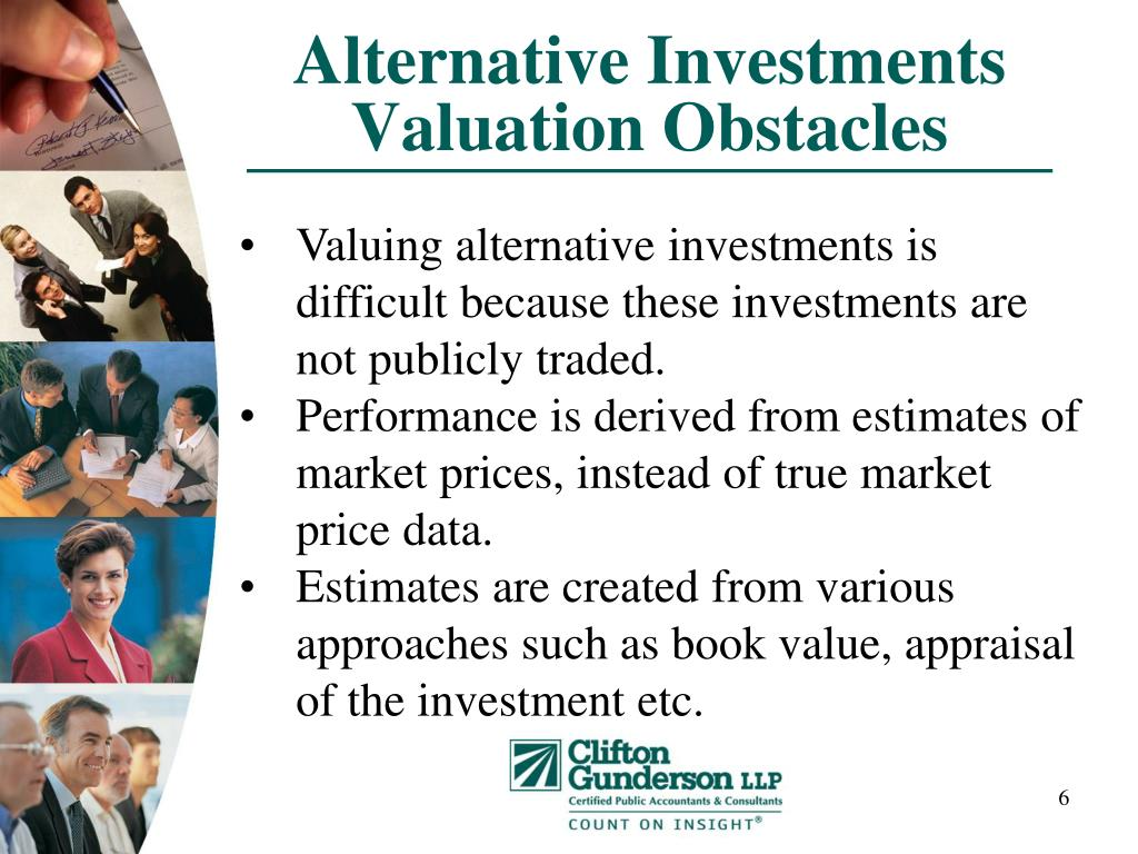 Alternative Investments Valuation Obstacles