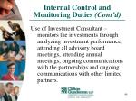 internal control and monitoring duties cont d40